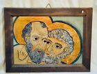 Genuine FineArt Reproduction Oil on Glass. BYZANTINE ART. St-Peter and St-Paul