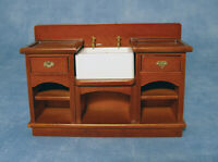 Dolls House Miniature 1/12th Scale Belfast Sink Unit with Shelves DF863