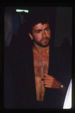 George Michael Wham! Open Shirt Bare Chest 1985 Rare original 35mm Transparency