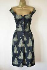VIVIENNE WESTWOOD SATURDAY 50 Tassel Print Fit & Flare Cotton Summer Party Dress
