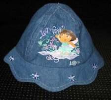 Nick Jr Dora Explorer Adorable blue denim Flop Hat Girls Size 0-6 Months NWOT