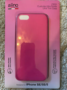 Aiino - Pink Ultra Slim Ergonomic and Soft Case for iPhone 5S/SE/5 Smartphone