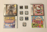 Lot of 11 Nintendo DS Video Games 4 In Cases, 7 Are Loose Cartridges