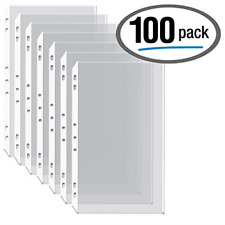 100box Legal Size Clear Heavyweight Poly Sheet Protectors Gold Seal85 X 14