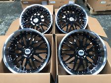 """20"""" Alloy Wheels BMW 5 Series Deep Dish Y Spoke Black Polished"""