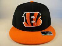 Cincinnati Bengals NFL Reebok Fitted Hat Cap Size 7 3 4 Black Orange bf4786ed54bc