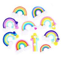 4-5cm Random Polymer Clay Rainbow Cloud Cabochons 10 pcs DIY Jewellery Making