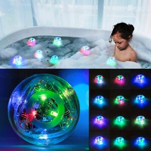 Waterproof Hot Tub RGB Colorful LED Floating Bath Lights Lazy Spa Lamp Toys UK