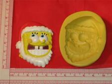 Christmas Silicone Mold Spongebob for Cookie Chocolate Resin Clay A737 Fondant