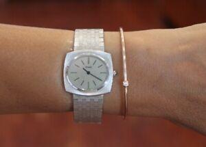 Vintage Piaget 18K White Gold Ladies Watch 9581