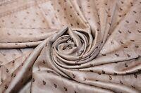 Vintage Beige Saree Pure Georgette Silk Printed Sari 5 Yd Craft Dress Fabric
