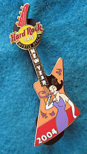 New listing Myrtle Beach Sexy Party Girl Purple Dress Explorer Guitar 04 Hard Rock Cafe Pin