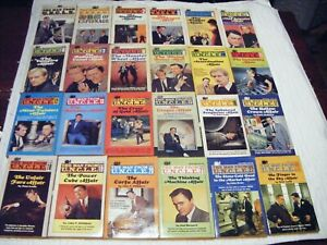 MAN FROM UNCLE Lot of 24 ACE Paperbacks - Run Complete 1-23 & ABC