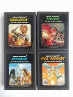 Atari Games Game Program: Berzerk, Years' Revenge, Defender, Warlords Lot of 4