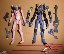 NEON GENESIS EVANGELION bandai candy TOY figure lot PURPLE + PINK