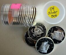 Roll of 2004 S Proof SILVER Kennedy Half Dollars Coin 50 Cent JFK Fifty Cents K