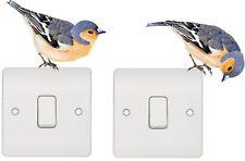 2 x Blue Tit Bird Country Car Van 4x4 Pick Up Wall Art Kitchen Stickers Decals