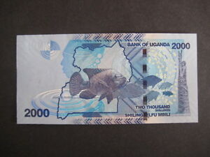 UGANDA NEW ISSUE: 2,000 SHILLINGS, DATED 2010 - UNCIRCULATED