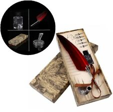 Spring Pin Dip Pen Quill Pin 5 IPHONE Red Feather Fountain Pen Ecotank
