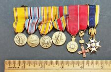 WW2 U.S. Miniature Medal Bar Group Campaign & Society Medals Traceable?