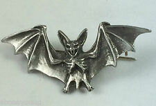 Large Vampire Bat, Gothic Quality Handmade Pewter Brooch