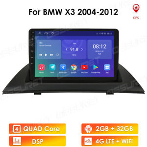 DAB+ Radio For BMW X3 E83 2004-2012 Android 10.0 GPS Sat Nav Car Stereo WIFI SWC