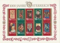 austria mint never hinged 1000 years austria stamps sheet ref r11480