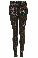 Brand new TOPSHOP multi coloured peace leggings UK 8 in Multi