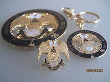 Masonic - 32nd Degree Scottish Rite car emblem, keychain & lapel pin