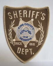 """Walking Dead King County Sheriff Dept 4.75"""" Costume Patch- USA Maile (WDPA-SHER)"""