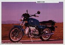 Prospekt BMW R 80 Motorrad 1991 Motorradprospekt 011 200 810/XM-2 brochure