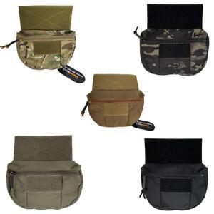 Hook Loop Drop Pouch Front Abdominal Bag for JPC CPC Tactical Vest Chest Rig
