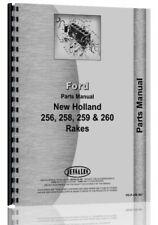 Parts Manual New Holland 256 Rake