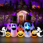 PETUOL Halloween Inflatable Ghosts, 9FT Long Lighted Decoration White Ghosts wit