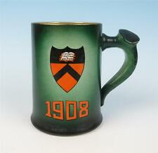 Antique Princeton University 1908 Tankard Beer Mug Shield Historical Stein