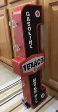Texaco Double Sided Light Vintage Style Gas Oil Garage Car Truck Service Decor