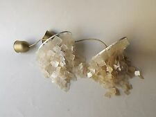 Pair Of Mother Of Pearl Ceiling Lightshade Lamp Shades 1960 Panton Era