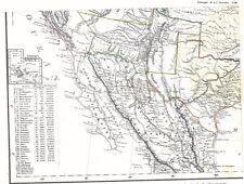 4 Karten: Der WILDE WESTEN von Amerika WILD WEST: 4 old US-Maps with TEXAS 1852