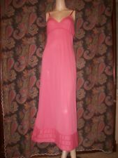 Vintage Lorraine Pink Silky Nylon Empire Formal Length Slip Nighty Lingerie 34