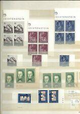 Liechtenstein, ab 1964, alle Erhaltungen, Variationen, Ränder, Lot