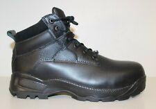 511 TACTICAL ATAC Shield Mens Boots Sz 13 Steel Toe Black Leather Waterproof