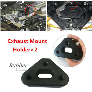 Auto Car 3 Holes Rubber Exhaust Mount Holder Tail Pipe Bracket Hanger Insulator