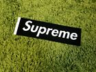 Supreme S/S 2017 Felt Sticker Box Logo Classic Black White Tab