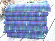 "Vintage Scottish Check Tartan Wool Cloth / Material - 1.5m x 1.5m - 59"" x 59"""