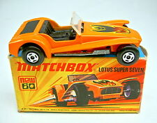 "Matchbox SF Nr. 60B Lotus Super 7 orange in ""J"" Box"