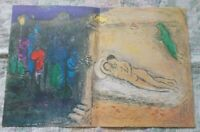 """Marc Chagall  """" Daphnis and Chloe """" The Wedding Large Color Lithograph 1977"""