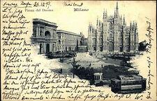 Mailand Milano Italien Lombardei AK 1899 Piazza del Duomo Mailänder Dom Kirche