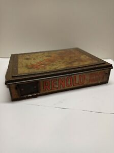 Rare Vintage Antique Renold metal Spare Parts Tin With adjustable compartments