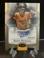 Kevin Newman 2020 Topps Tier One Break Out ON CARD AUTO #/299 Pirates BOA-KN