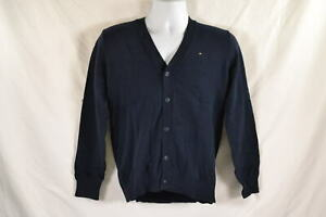 Youth Boy's Tommy Hilfiger Long Sleeve Liam Cardigan in Navy